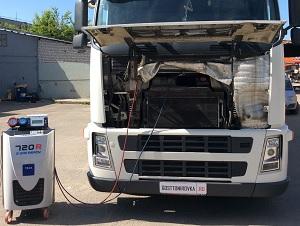 заправка кондиционера грузовика